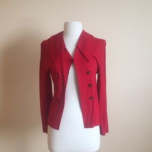 Vintage Red open front Blazer/ jacket